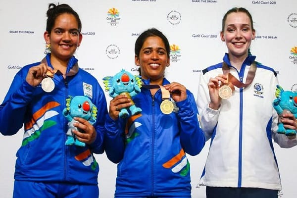 CWG 2018: Tejaswini Sawant Shatters Games Record To Win Gold, Anjum Moudgil Bags Silver In Women's 50m Rifle 3