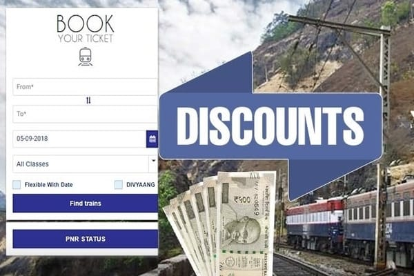 IRCTC Offers Massive Discount On Train Ticket Booking