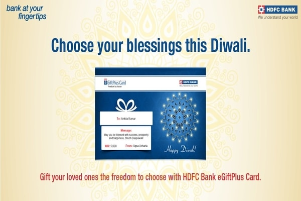 This Diwali gift your loved ones HDFC eGiftPlus Card, feature details