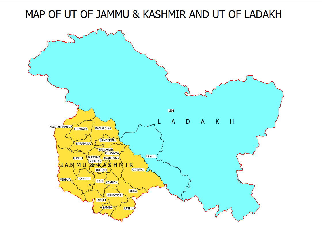 map of jammu and kashmir