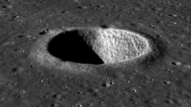 picture of moon's surface