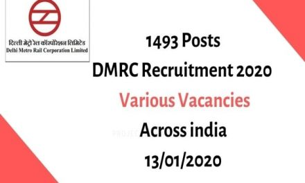 DMRC Recruitment 2020: Apply online for 1493 Posts