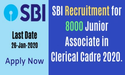 SBI Clerk Recruitment 2020: Apply online for 8,000 posts