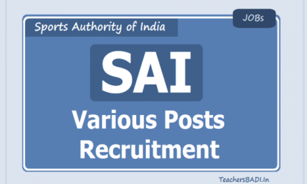 Sports Authority of India (SAI) Recruitment 2020, 347 Vacancy Notified, Apply Online