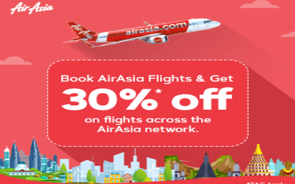 Air Asia Sale: Get 30% Off On All Destinations