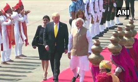 Donald Trump lands in Ahmedabad: Live Updates