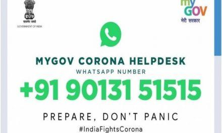 Coronavirus: Govt launches MyGov Corona Helpdesk