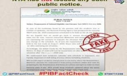 Beware of fake NTA notice on NEET-UG 2020 postponement being circulated: PIB