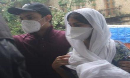 Sushant Singh Rajput death case: Rhea Chakraborty arrives at ED office