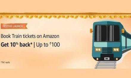 Amazon India now allows booking train tickets, offers cashback for Prime members