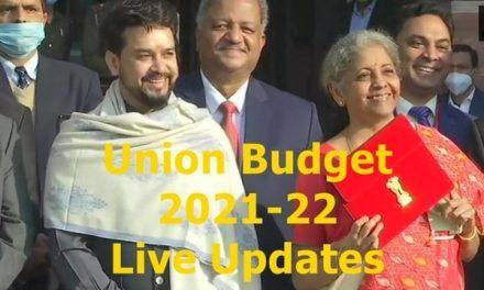 Union Budget 2021 Live updates: FM Nirmala Sitharaman Live from Parliament