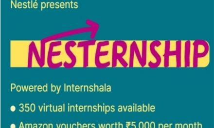Internshala and Nestlé bring 350 virtual internships for the Indian students